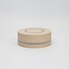 doosje circle lindehout ingelegd met grijs rubber