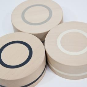 doosjes circle lindehout ingelegd met rubber